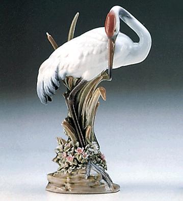 Preening Crane Lladro Figurine