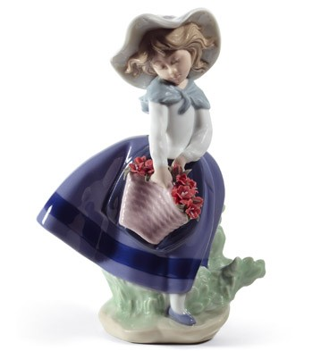 Pretty Pickings (carnations) Lladro Figurine