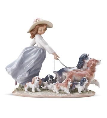 Puppy Parade Lladro Figurine