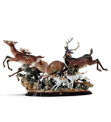 Pursued Deer Lladro Figurine