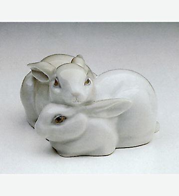 Rabbit Couple Lladro Figurine