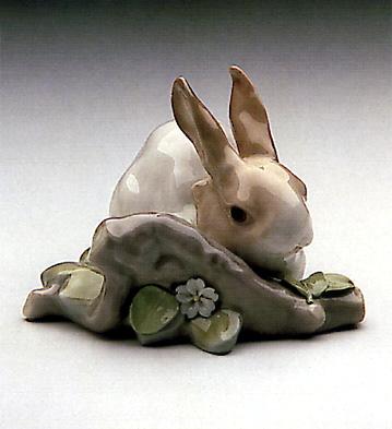 Rabbit Eating Lladro Figurine