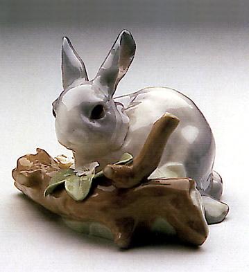 Rabbit Eating (grey) Lladro Figurine