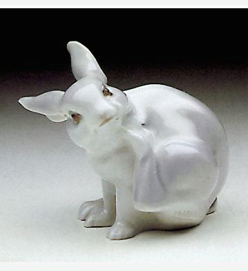 Rabbit Scratching Lladro Figurine