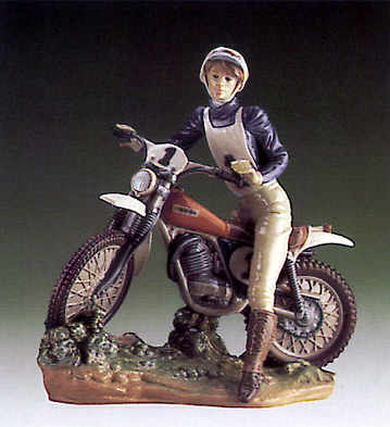 Racing Motor Cyclist Lladro Figurine
