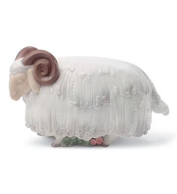 Ram In The Meadow Lladro Figurine