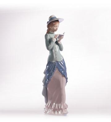 Reading Lladro Figurine