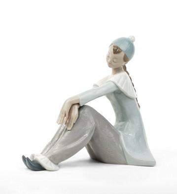 Reflective Pierrot Lladro Figurine