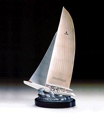 Regatta (p) Lladro Figurine