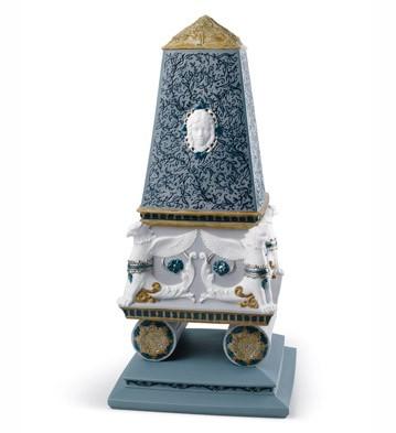 Renaissance Obelisk Box (platinum) Lladro Figurine