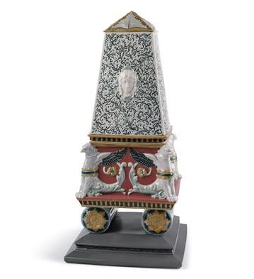 Rennaissance Obelisk Box (red) Lladro Figurine