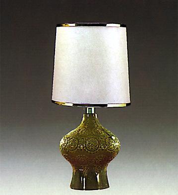 Rialto Lamp Green Lladro Figurine