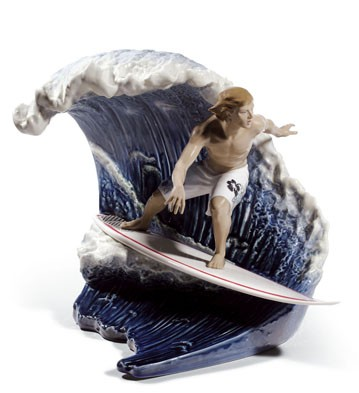 Riding The Big One! Lladro Figurine