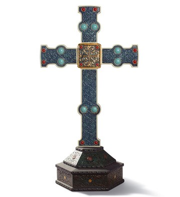 Romanesque Cross Lladro Figurine