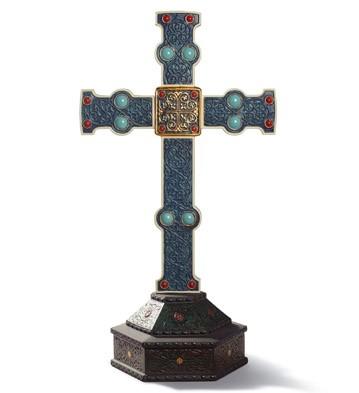 Romanesque Cross Lladro Figurine