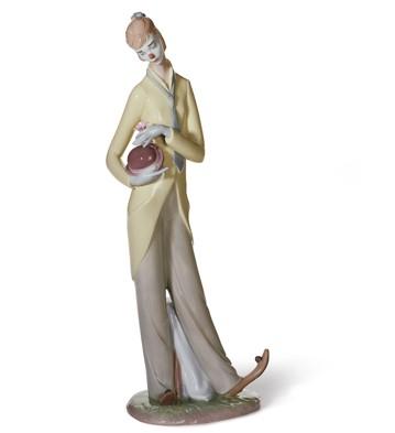 Romantic Clown Lladro Figurine