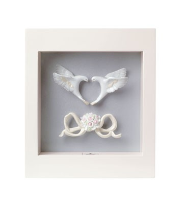 Romantic Doves - Wall Art Lladro Figurine