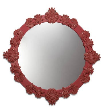 Round Mirror Large (red) Lladro Figurine