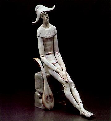 Sad Harlequin Lladro Figurine