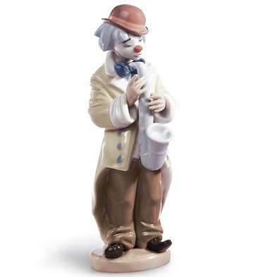 Sad Sax Lladro Figurine
