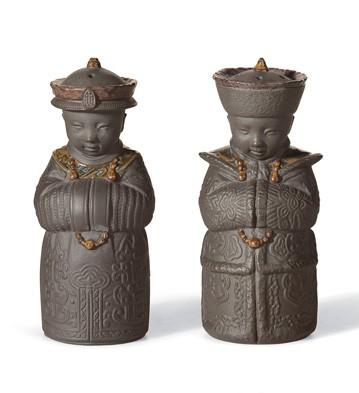 Salt & Pepper Shakers (black) Lladro Figurine