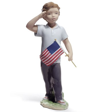Saluting The Flag Lladro Figurine