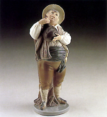 Sancho With Leather Bottl Lladro Figurine