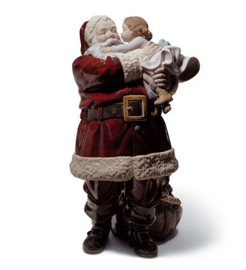 Santa, I've Been Good! Lladro Figurine
