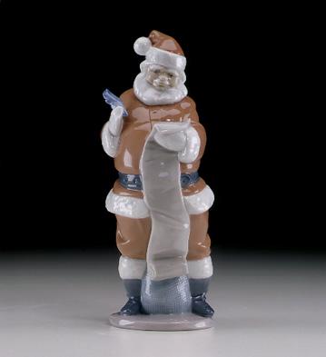 Santa's List Lladro Figurine