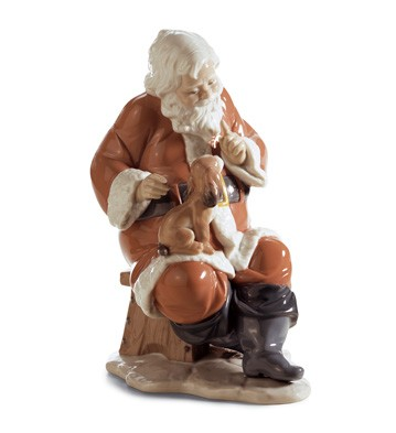 Santa's Little Secret Lladro Figurine