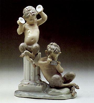 Satyr's Group Lladro Figurine