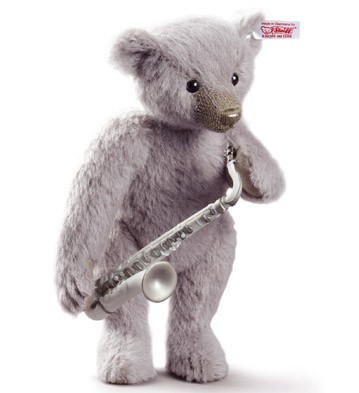 Saxophone Player Teddy Bear Lladro Figurine