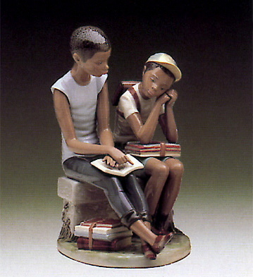 School Chums Lladro Figurine