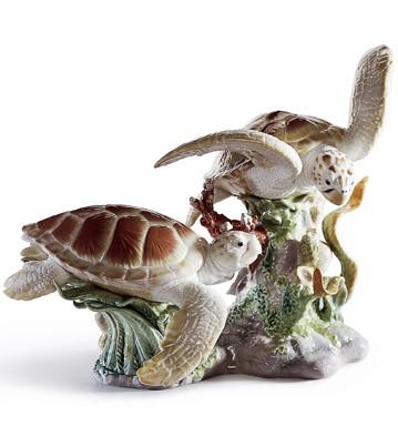 Sea Turtles Lladro Figurine