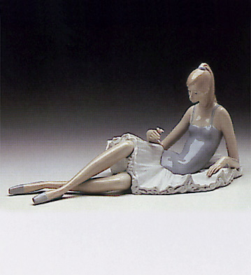Seated Ballerina Lladro Figurine