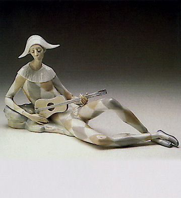 Seated Harlequin Lladro Figurine