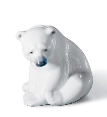 Seated Polar Bear Lladro Figurine