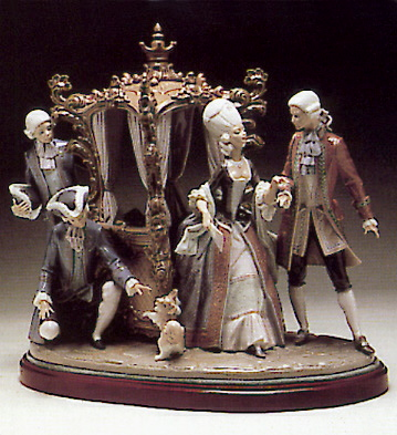 Sedan-chair Group (num.s. Lladro Figurine