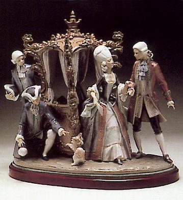 Sedan-chair Group (num.s. Lladro Figurine
