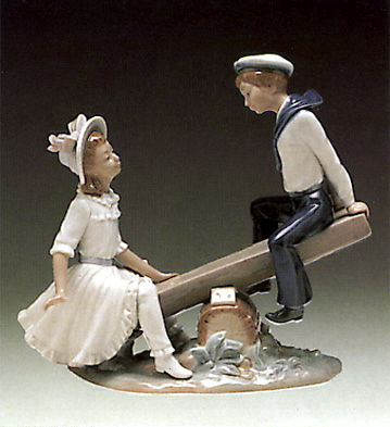 Seesaw Lladro Figurine