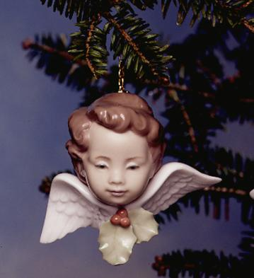 Seraph With Holly Lladro Figurine