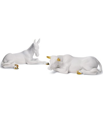 Set Animals At Bethlehem (re-deco) Lladro Figurine