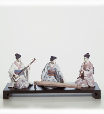 Set Japanese Players Lladro Figurine