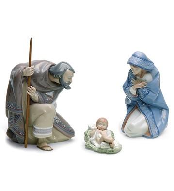 Set Silent Night (porcelain) Lladro Figurine