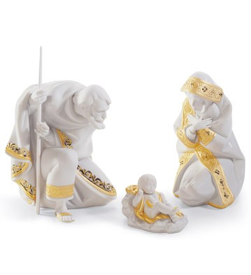 Set Silent Night (re-deco) Lladro Figurine