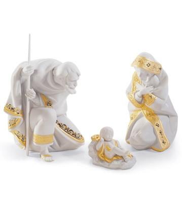 Set Silent Night (re-deco) Lladro Figurine