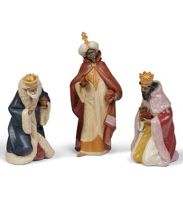 Set Three Wise Men (gres) Lladro Figurine