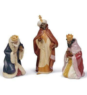Set Three Wise Men (gres) Lladro Figurine
