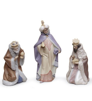 Set Three Wise Men (porcelain) Lladro Figurine