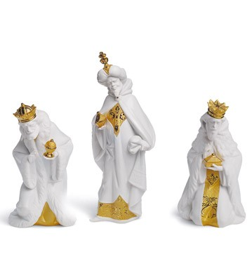Set Three Wise Men (re-deco) Lladro Figurine